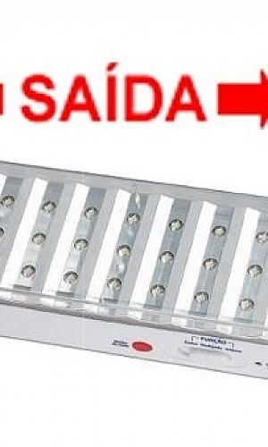 luminária de emergência led