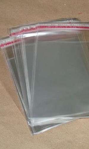 Saco plástico adesivado